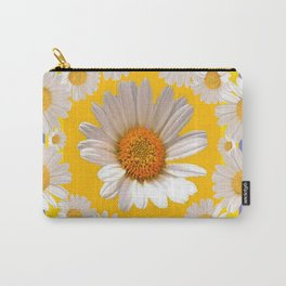 DECORATIVE YELLOW WHITE DAISIES Carry-All Pouch
