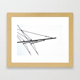 wires Framed Art Print