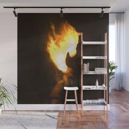 Horse Head of Fire Wall Mural