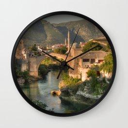 The Old Bridge of Mostar Wall Clock