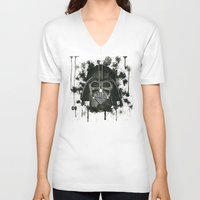 dark side V-neck T-shirts featuring Dark side by Gilles Bosquet