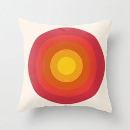 Right On - retro throwback 70s 1970s bullseye beach 70's vibes minimal art by Seventy Eight Throw Pillow