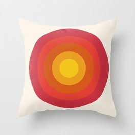 Right On - retro throwback 70s 1970s bullseye beach 70's vibes minimal art by Seventy Eight Throw Pillow