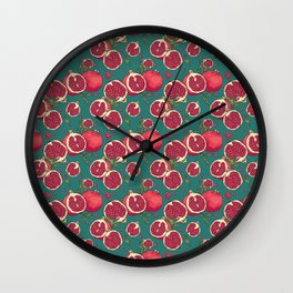 Juicy pomegranates Wall Clock