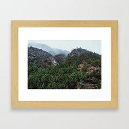Nepal Series | Bridge to Terebitha, Himalayas Framed Art Print