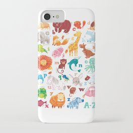 Animalphabet iPhone Case