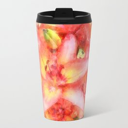Helen's Lilies Watercolor Travel Mug