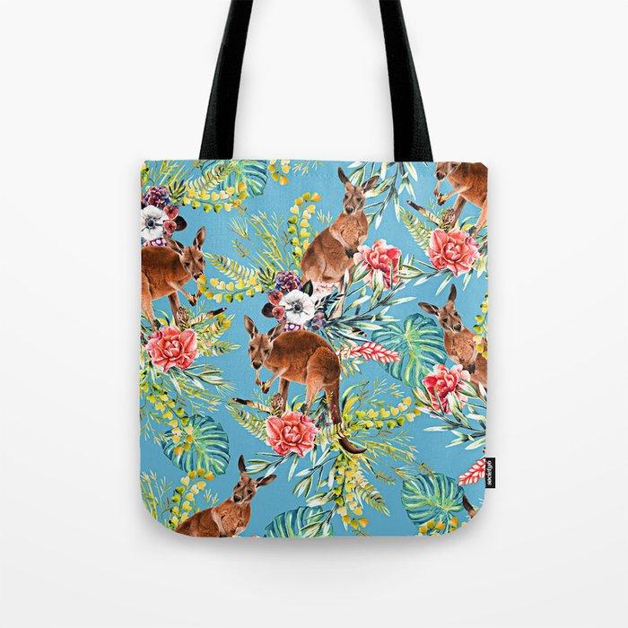 Kangaroos Pattern Tote Bag