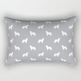 Bernese Mountain Dog pet silhouette dog breed minimal grey and white pattern Rectangular Pillow