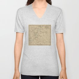 Vintage Map of Ethiopia (1919) Unisex V-Neck