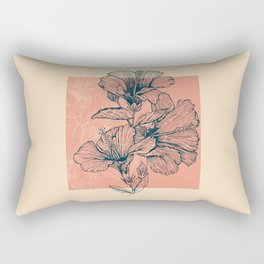 Hibiscus Colors Rectangular Pillow