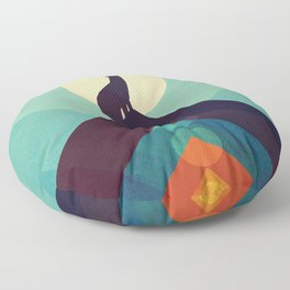 Howling Wild Wolf Floor Pillow