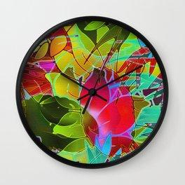 Floral Abstract Artwork G125 Wall Clock