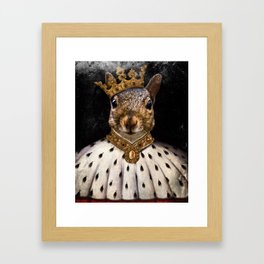 Lord Peanut (King of the Squirrels!) Framed Art Print