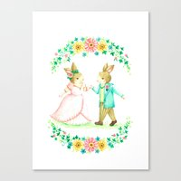 wedding Canvas Prints featuring wedding by nao works