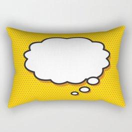 Comic Book THINK Rectangular Pillow