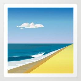 Rothko at the Beach Art Print