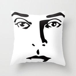 Silent Stars - Buster Keaton Throw Pillow