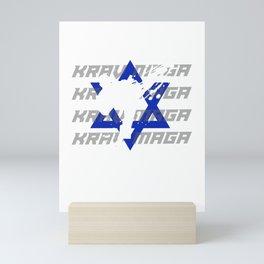 Krav Maga Self Defense Instructor Selfe Defense Martial Arts Mini Art Print