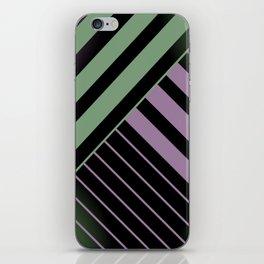 Diagonal Green and Violet iPhone Skin