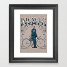 Bicycle Repairman Framed Art Print