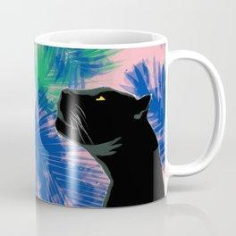 Panthers with palm leaves Coffee Mug