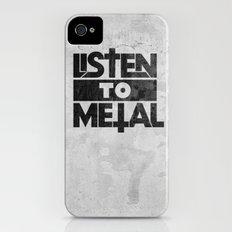Listen to Metal iPhone (4, 4s) Slim Case