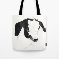 belle Tote Bags featuring Belle by Bren Sparling