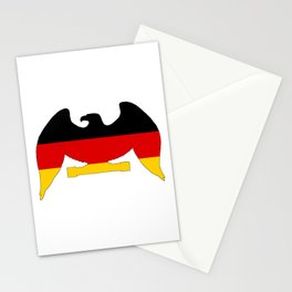 German Flag - Eagle Stationery Cards