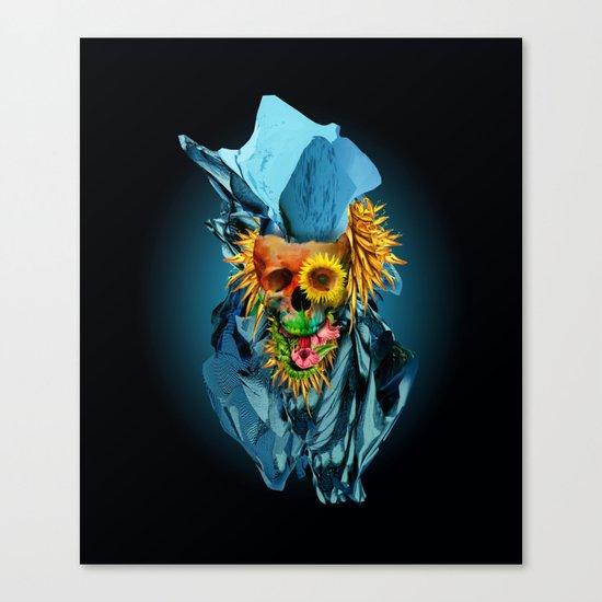Floral Skull Vivid IV Canvas Print