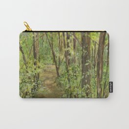 Wooded Path Watercolor Landscape Detailed Realism Carry-All Pouch