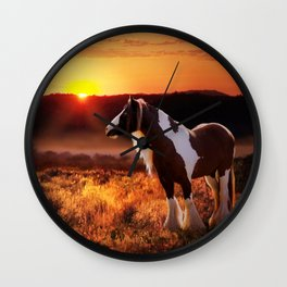 Gypsy Sunset Wall Clock