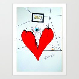 broken heart part 1 Art Print