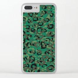 Emerald Leopard Clear iPhone Case