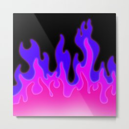 Bright Pink and Purple Flames! Metal Print