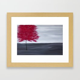 Red Tree Framed Art Print