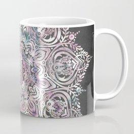 Dreams Mandala - Magical Purple on Gray Coffee Mug