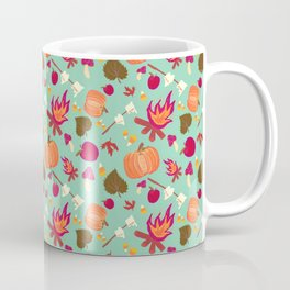 Floaty Fall On Mint Coffee Mug