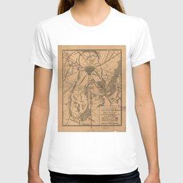 Vintage Map of The Gettysburg Battlefield (1863) 4 T-shirt