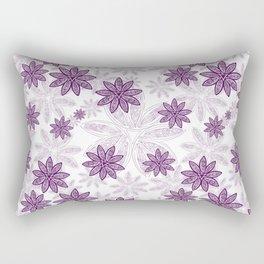 Gorgeous Purple Floral Geometric Print Rectangular Pillow