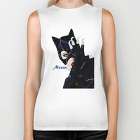 returns Biker Tanks featuring Catwoman Returns  by LARiozzi
