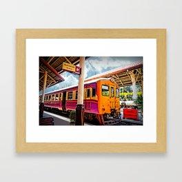 Let's Take The Train. Framed Art Print