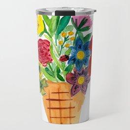 Flower Cone Travel Mug