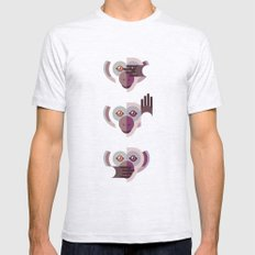Ignore no evil Mens Fitted Tee SMALL Ash Grey