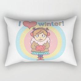 Winter Cutie Rectangular Pillow