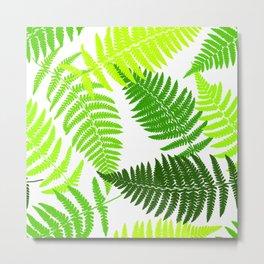 Fern tropical seamless pattern. Metal Print