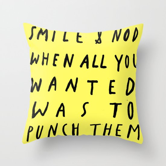 THE ART OF Throw Pillow