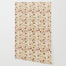 Quiet Walk In The Forest - A Soft And Lovely Pattern Wallpaper