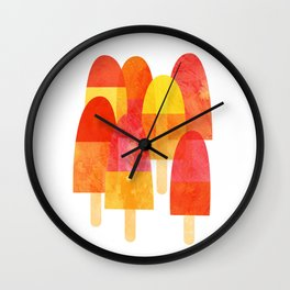Ice Lollies and Popsicles Wall Clock