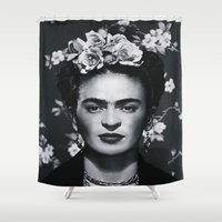 mexican Shower Curtains featuring MEXICAN PRINCESS by Paparrazzi666
